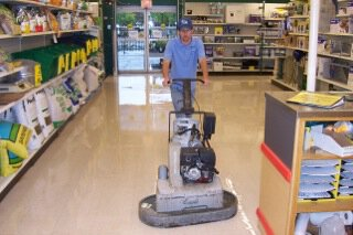 Wet Scrubbing floor care in Retail Store in Grand Rapids, MI