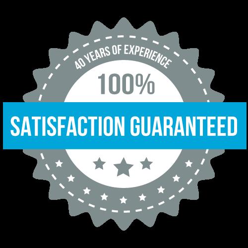 Satisfaction is 100% Guaranteed