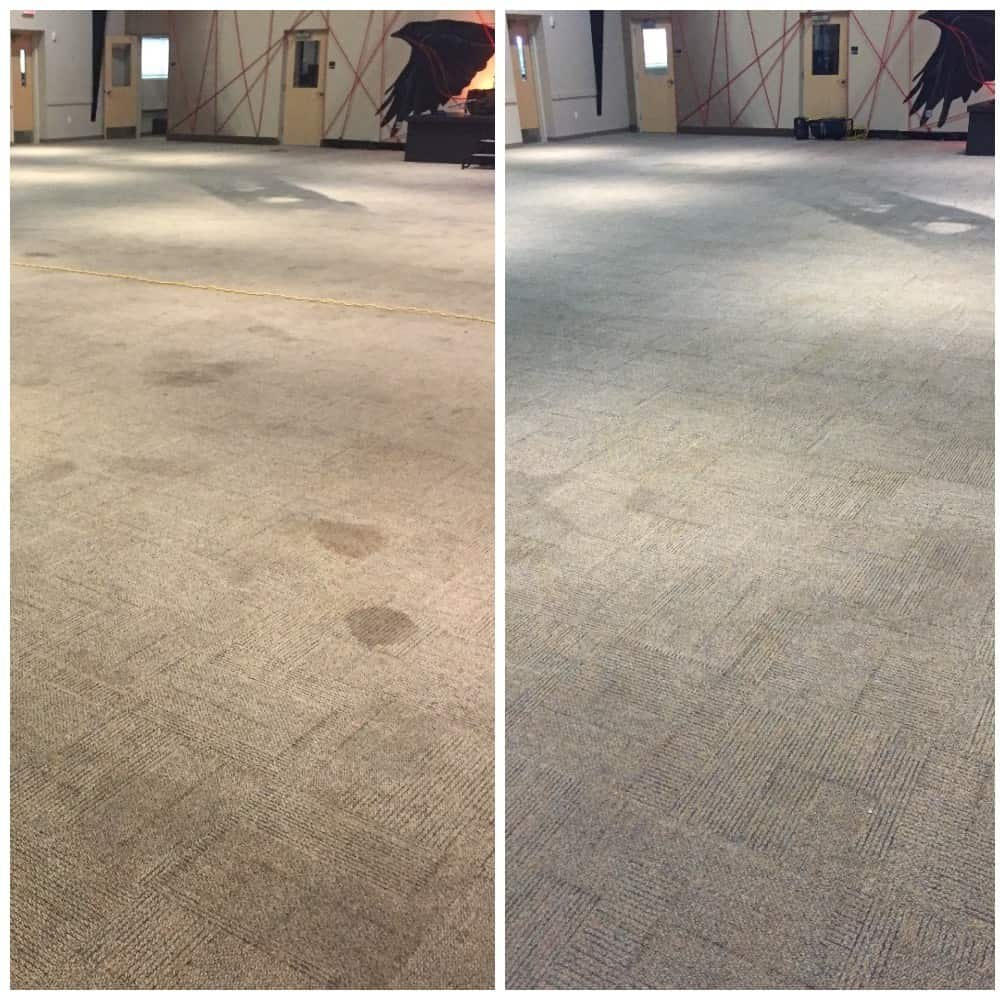 Dry Carpet Cleaning Grand Rapids before and after